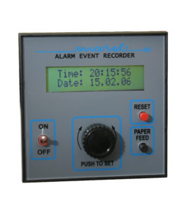 Alarm event recorder panel